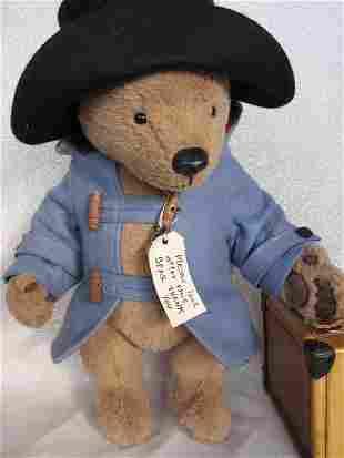 """LE R. J. Wright """"Paddington Bear"""" brown plush 15"""""""