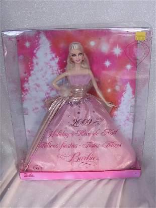 MIB Mattel Barbie 2009 Holiday Barbie in pink net lace