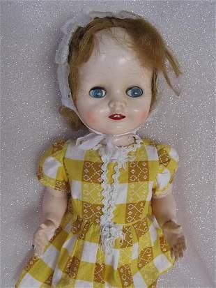 Two Pedigree Delite dolls 1950s 41cm. Walker and