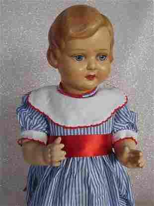 Two dolls:- Roddy walker 1950s 38cm in blue outfit.