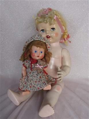 Two 50s HP dolls:- Pedigree 51cm toddler naked, blonde