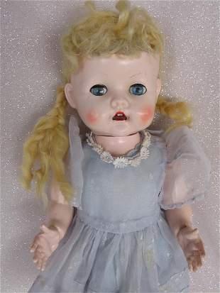 Two Pedigree Delite walking dolls 1950s 41cm. Faded