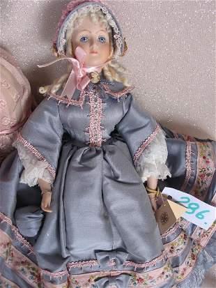 Two Francine dolls. Australian artist 56cm felt doll
