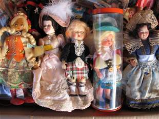 Fifty plus Cabinet dolls include:- Brown H/Plastic,