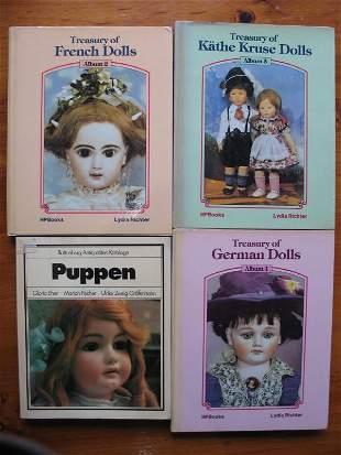 Eleven Doll collector books. Includes Pollocks