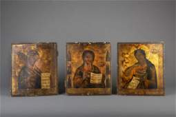 A Russian Deesis set of icons 18th19th C