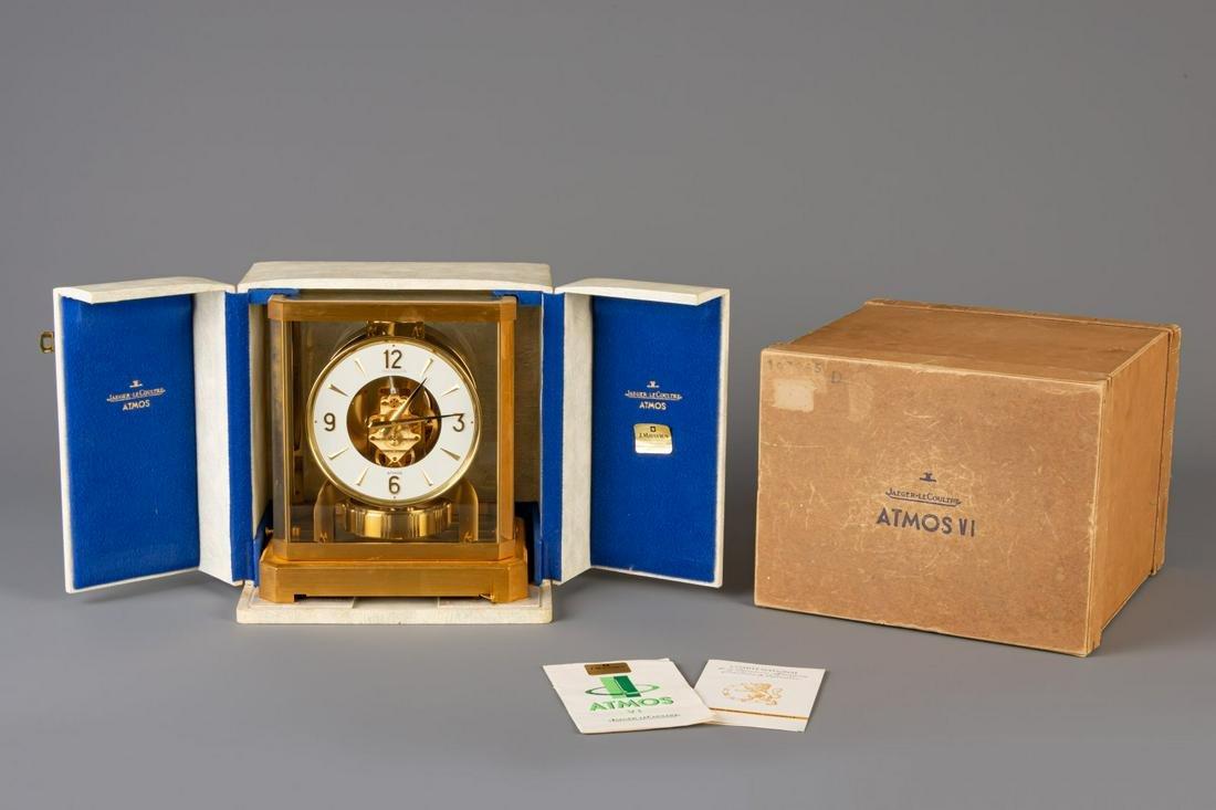 A Jaeger-LeCoultre 'Atmos VI' clock in its original