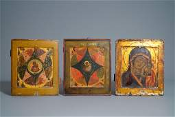 Three Russian icons 18th19th C