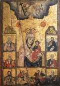 A large Greek Hodegetria icon, 'Mother of God',