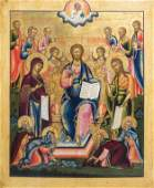 A large Russian icon, 'King of Kings', 19th C.