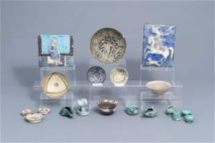 A collection of 19 Islamic ceramic wares, 12th C. and