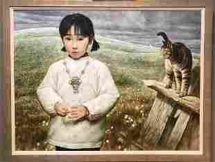 CHINA GIRL WITH CAT