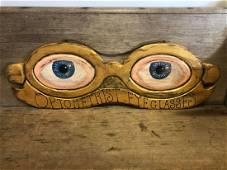 Wooden Optometrist Eyeglasses Sign