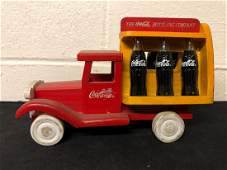 Wooden Toy CocaCola Bottle Truck