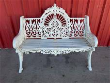 Heavy Solid Cast Iron Victorian Style Bench 1 Of 2