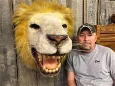 Unique Folk Art/Carnival Lion Head Wall Mount