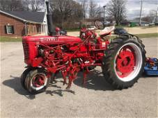 MCCORMICK FARMALL C TRACTOR WITH CULTIVATER - RUNS, WAS