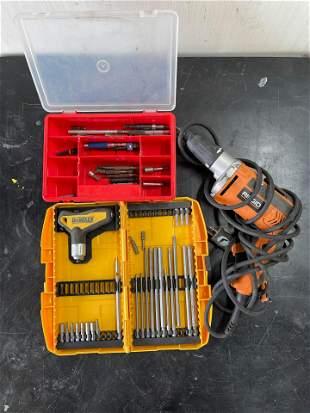 Rigid Electric Drill & Bits