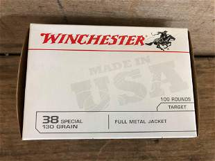 100 ROUNDS WINCHESTER .38 SPL