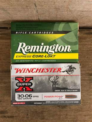 40 ROUNDS REMINGTON/WINCHESTER 30-06
