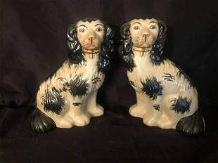 """PAIR OF STAFFORDSHIRE STYLE DOGS (9"""")"""