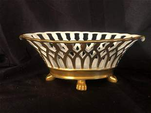 """PORTUGUESE 4 FOOTED BOWL (12"""")"""