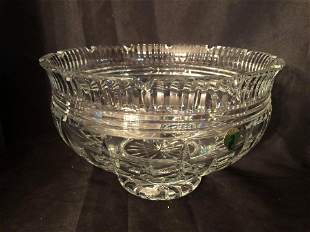 LARGE HEAVY WATERFORD LEADED CRYSTAL WITH BOX