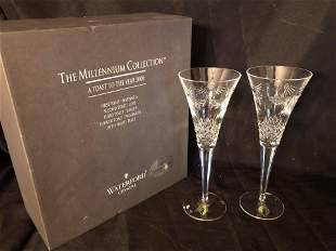 """WATERFORD CRYSTAL """"TOAST TO YEAR 2000"""" WITH BOX"""