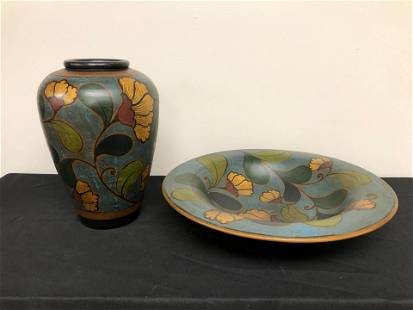 "Pottery Vase & Bowl (16"")"