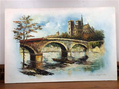"""Oil On Canvas Scene (36"""")"""
