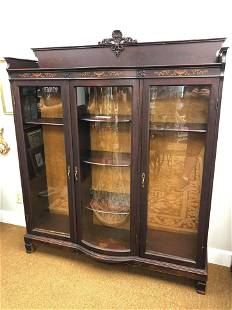 American Late 19th Century Triple Door Bookcase
