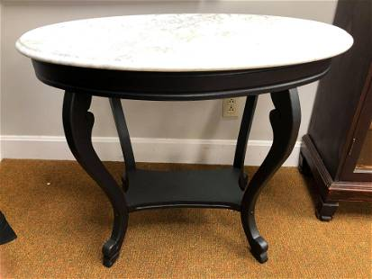 """Antique Marbletop Console Table (35""""x28"""")"""
