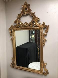 "Large Ornate Vintage Mirror (60""x36"")"