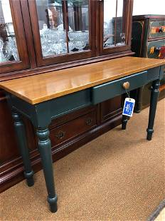 """Modern Sofa Table With Green Base (48"""")"""