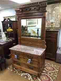 Eastlake Victorian Marbletop Dresser