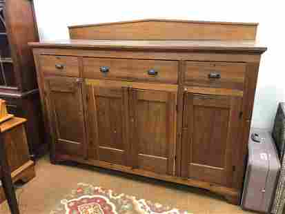 Early 19th Century American Sideboard With Gallery