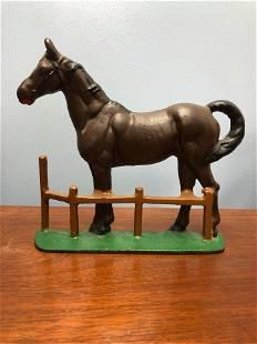 Cast Iron Horse Door Stop