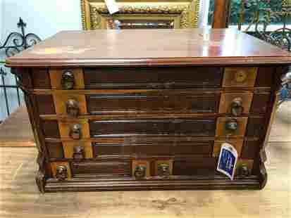 "American 19th Century Spool Cabinet (18""x30"")"