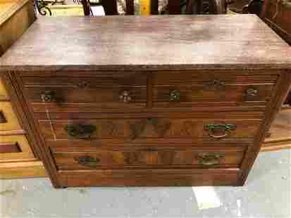 Victorian Walnut Marbletop Dresser
