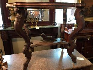 Victorian Carved Dog Table