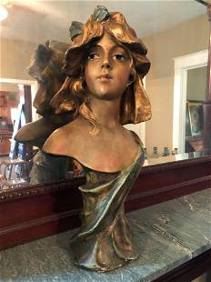 """Late Victorian Bust (Ht 20 """")"""