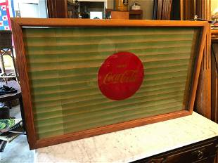 Coca-Cola 1950s shade window