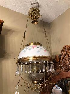 Antique Victorian Oil Lamp- Electrified