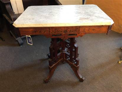 Victorian Marble Top Parlor Table