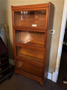 Antique Oak Barrister Lawyers Bookcase Made by Weis