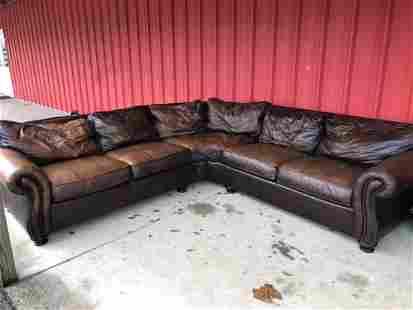 Bernhardt Leather Sectional Sofa