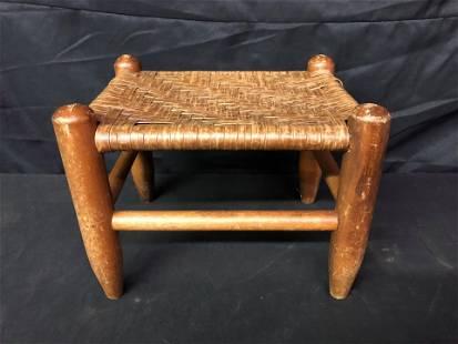 ANTIQUE CANE BENCH