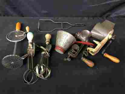 COLLECTION OF PRIMITIVE UTENSILS
