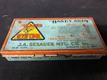 HANDY ANDY SEXAUER SYSTEM METAL BOX