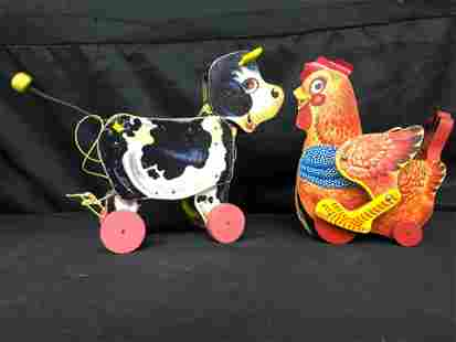 PAIR OF FISHER PRICE PULL TOYS